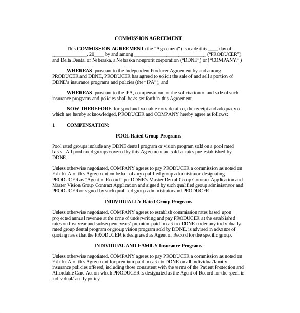 insurance agent commission contract template 10 new thoughts about insurance agent commission contract template that will turn your world upside down 4349