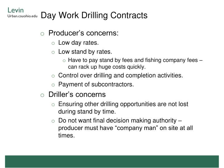 Turnkey Drilling Contract Template Ppt Oil and Gas Service Contracts Powerpoint