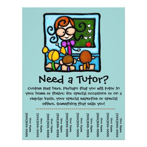 tutor promotional tear sheet flyer 244786636723959988