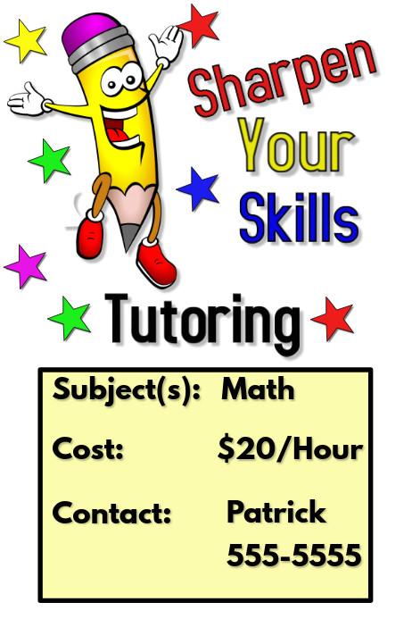 tutoring poster template