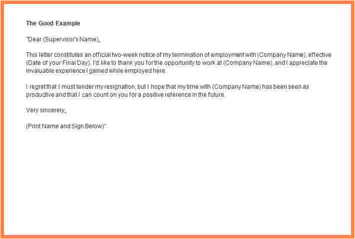 7 2 week notice email template