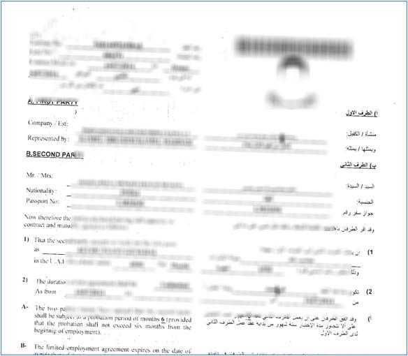 get labour contract copy mol website