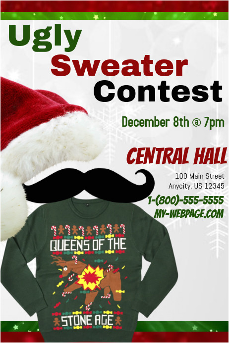 ugly sweater contest flyer template