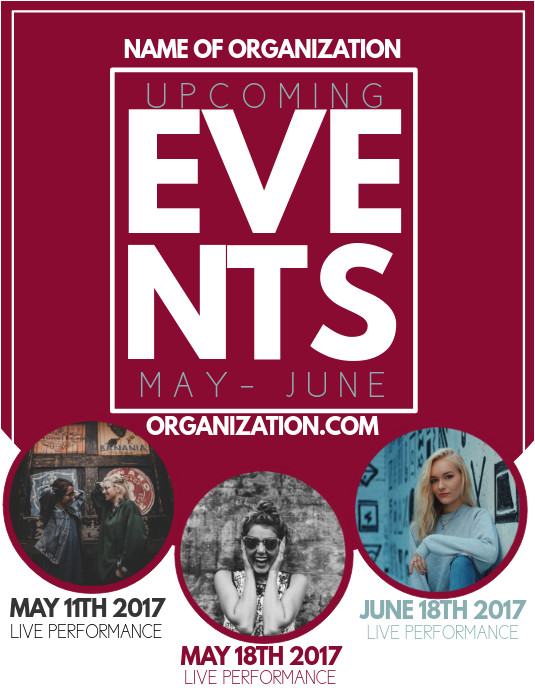 upcoming event flyer template