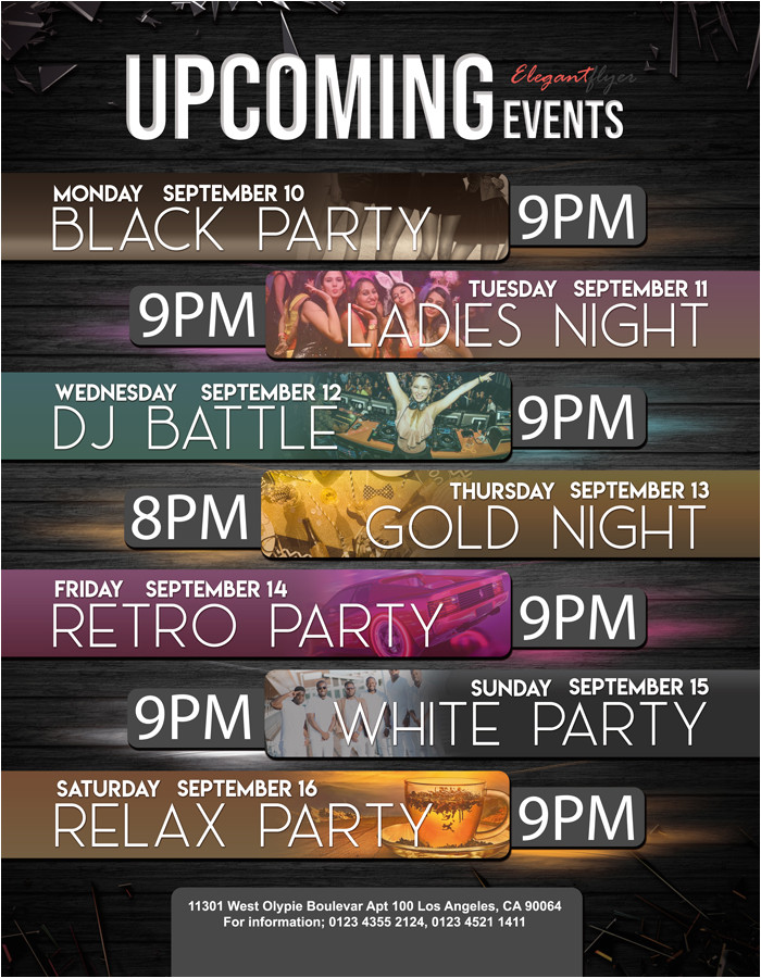 Upcoming events Flyer Template Upcoming events Free Flyer Psd Template by Elegantflyer
