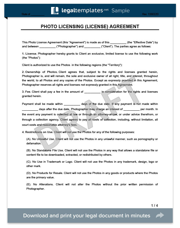 photo licensing agreement