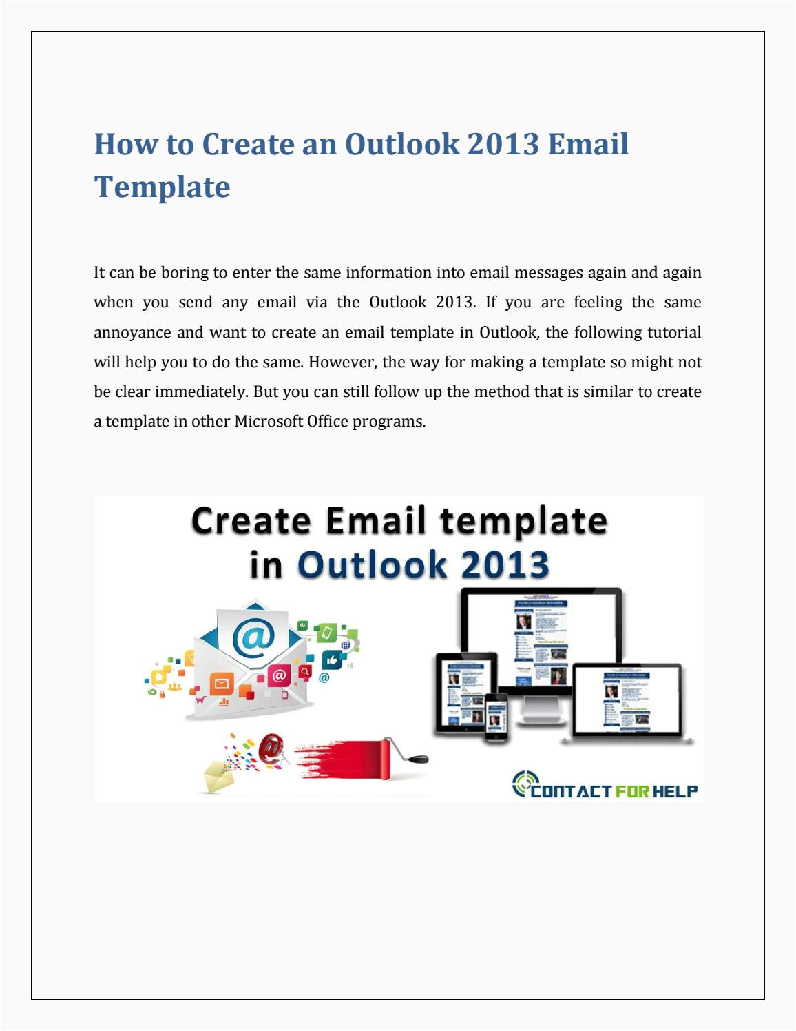 create an email template in outlook