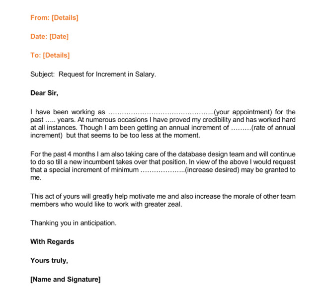 salary increases letter format