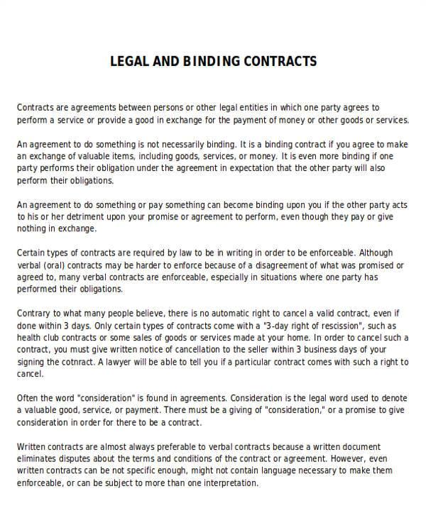agreement example