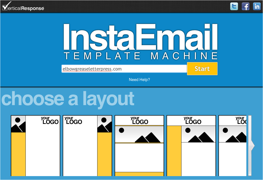 free instaemail email template creation tool