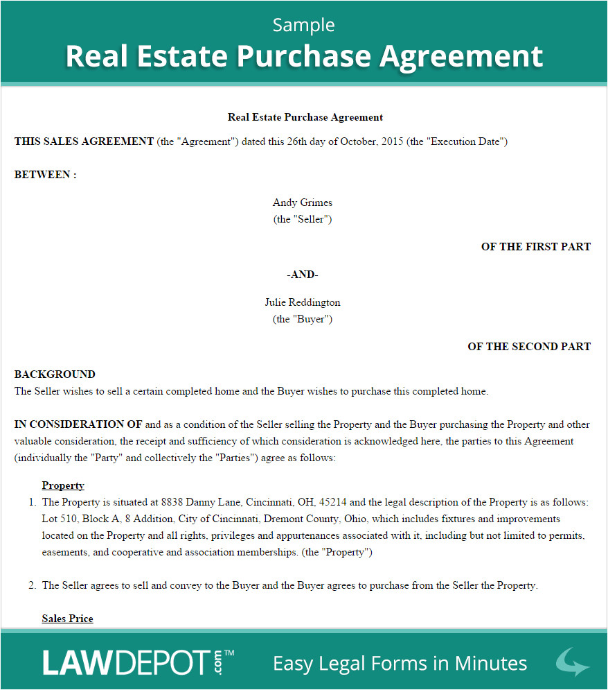 Virginia Real Estate Sales Contract Template Real Estate Purchase Agreement United States form Lawdepot