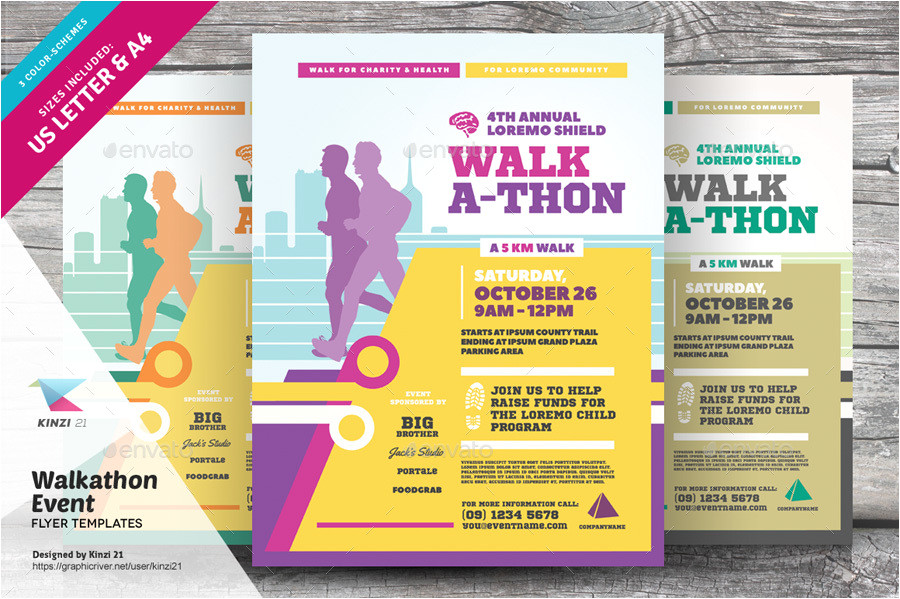 Walk A Thon Flyer Template Walkathon event Flyer Templates by Kinzi21 Graphicriver