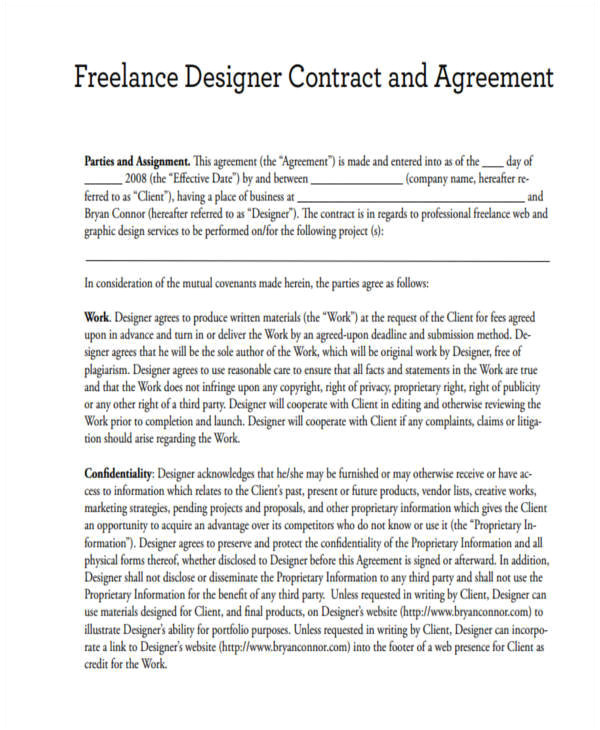 Web Design Contract Template Pdf Freelance Graphic Design Contract Template Pdf Template