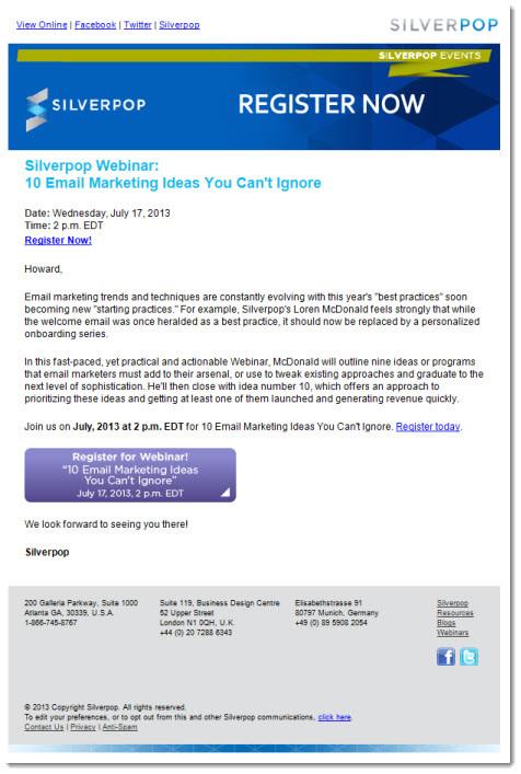 webinar invitations