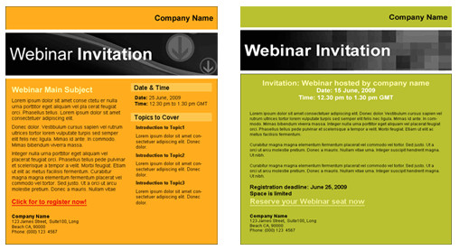 Webinar Email Template Webinar Templates for Email Marketing