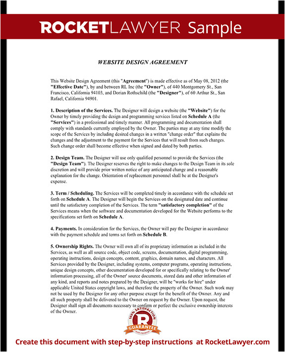 website design agreement rl