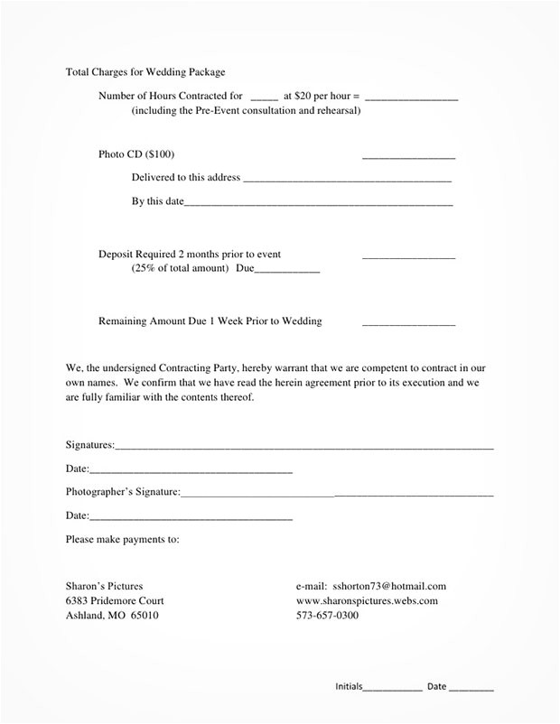 5 best free wedding photography contract templates