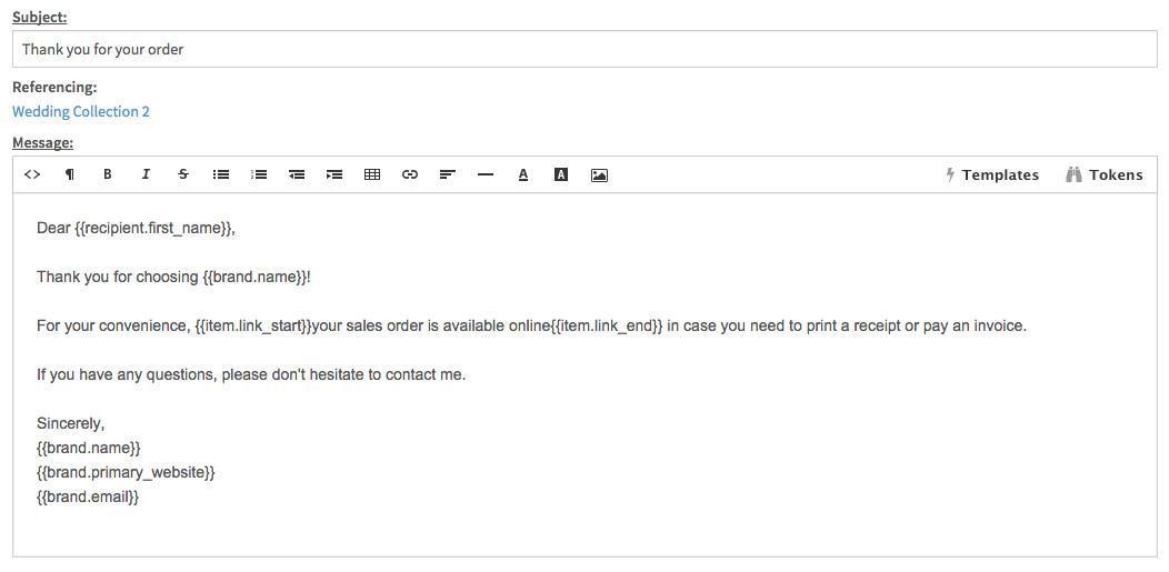 email templates quick responses