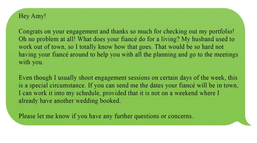 3 must know tips on how to book a bride through email