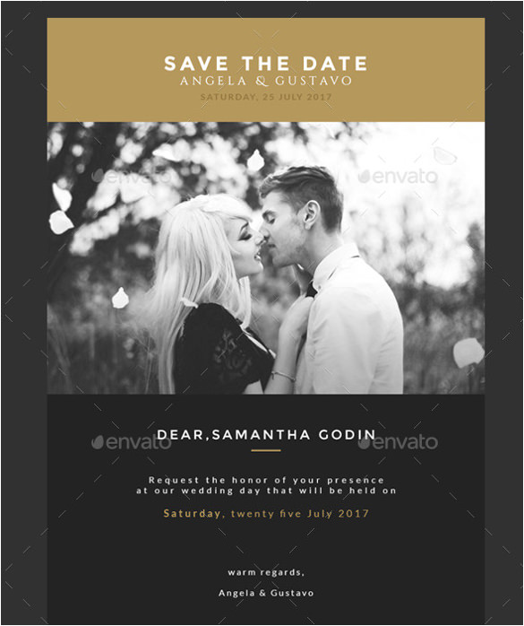 Wedding Save the Date Email Template 11 Exceptional Email Invitation Templates Free Sample