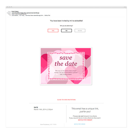 save the date pink 2