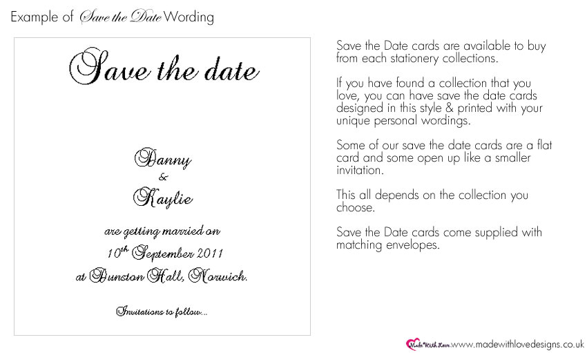 witem save the date wording