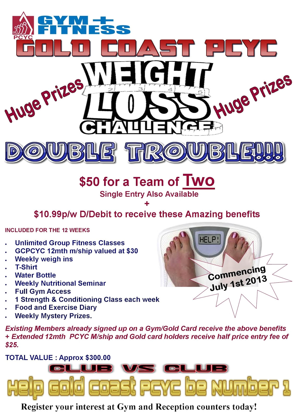 gold coast pcyc weight loss challenge