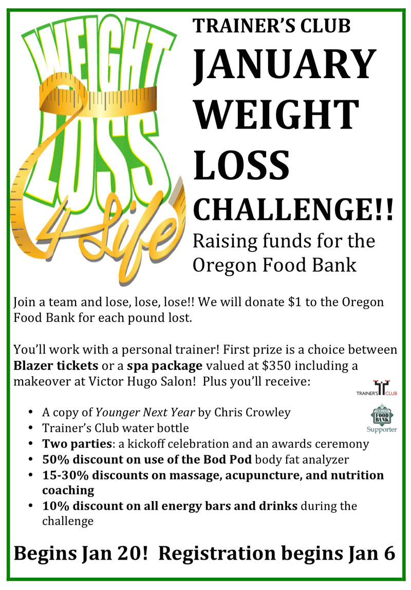 weight loss challenge 2015 raising funds oregon food bank begins january 20 register front desk