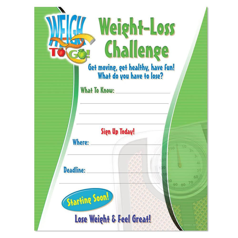 Weight Loss Challenge Flyer Template Free Weight Loss Challenge Laminated Poster Positive Promotions