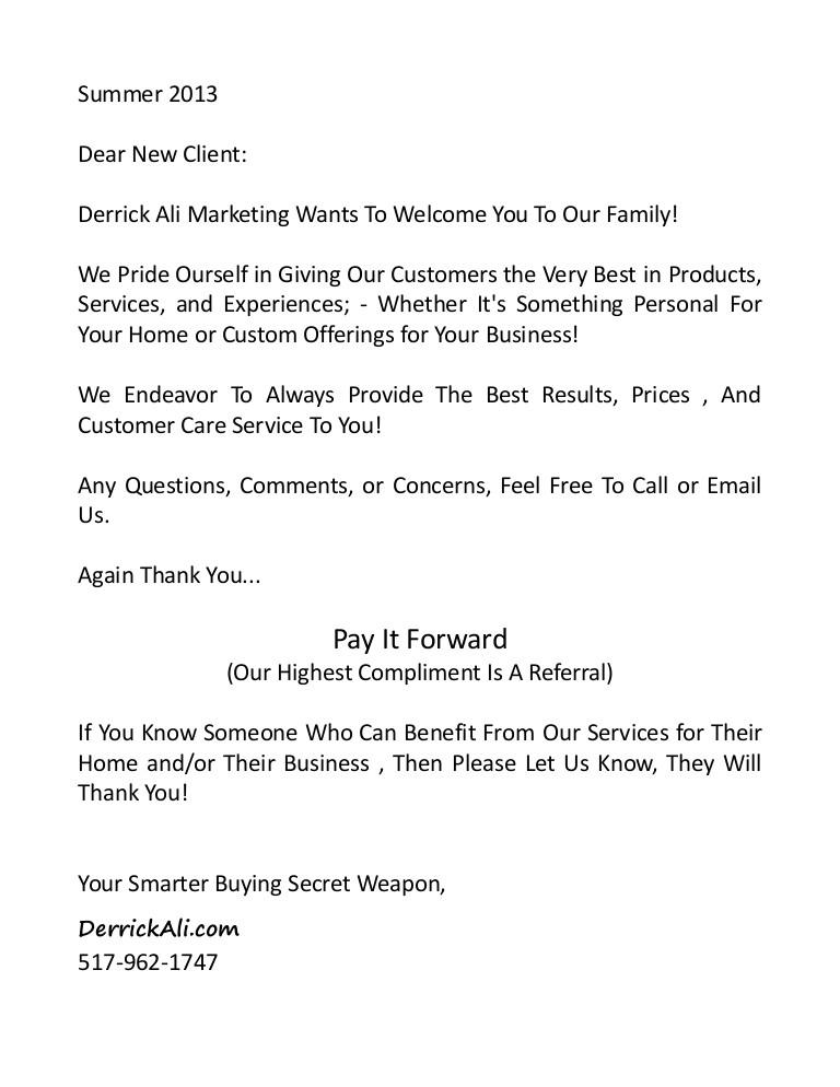 derrick aliclientinfopkgwelcomelettersummer2013