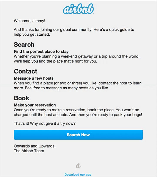 welcome email templates