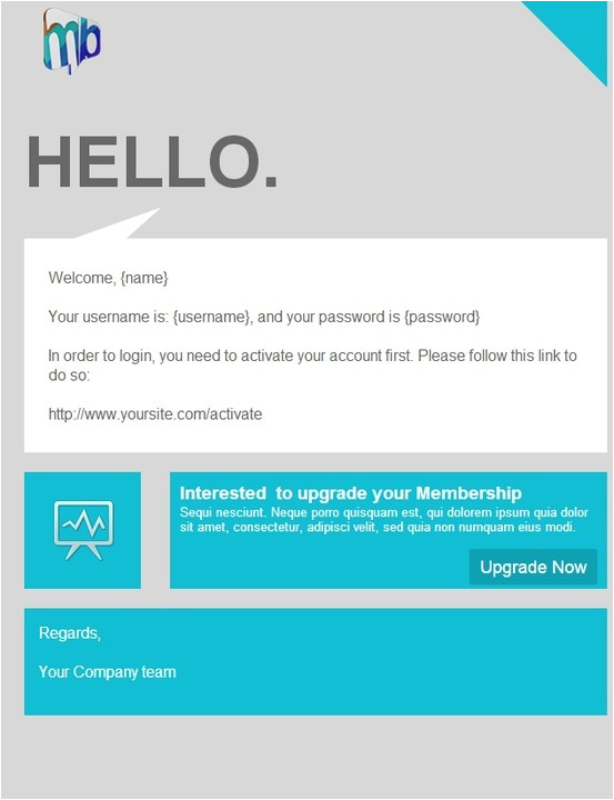 Welcome Email Template HTML Hey Yo Http Stamplia Com HTML Email Template