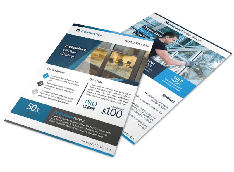 stunning window cleaning flyer template