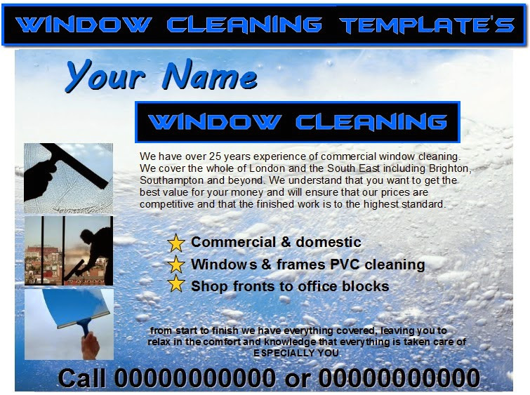 Window Cleaning Flyer Template Window Cleaning Flyer Templates Business Templates forms