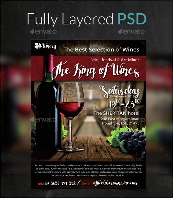 wine flyer