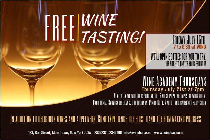 wine tasting poster template