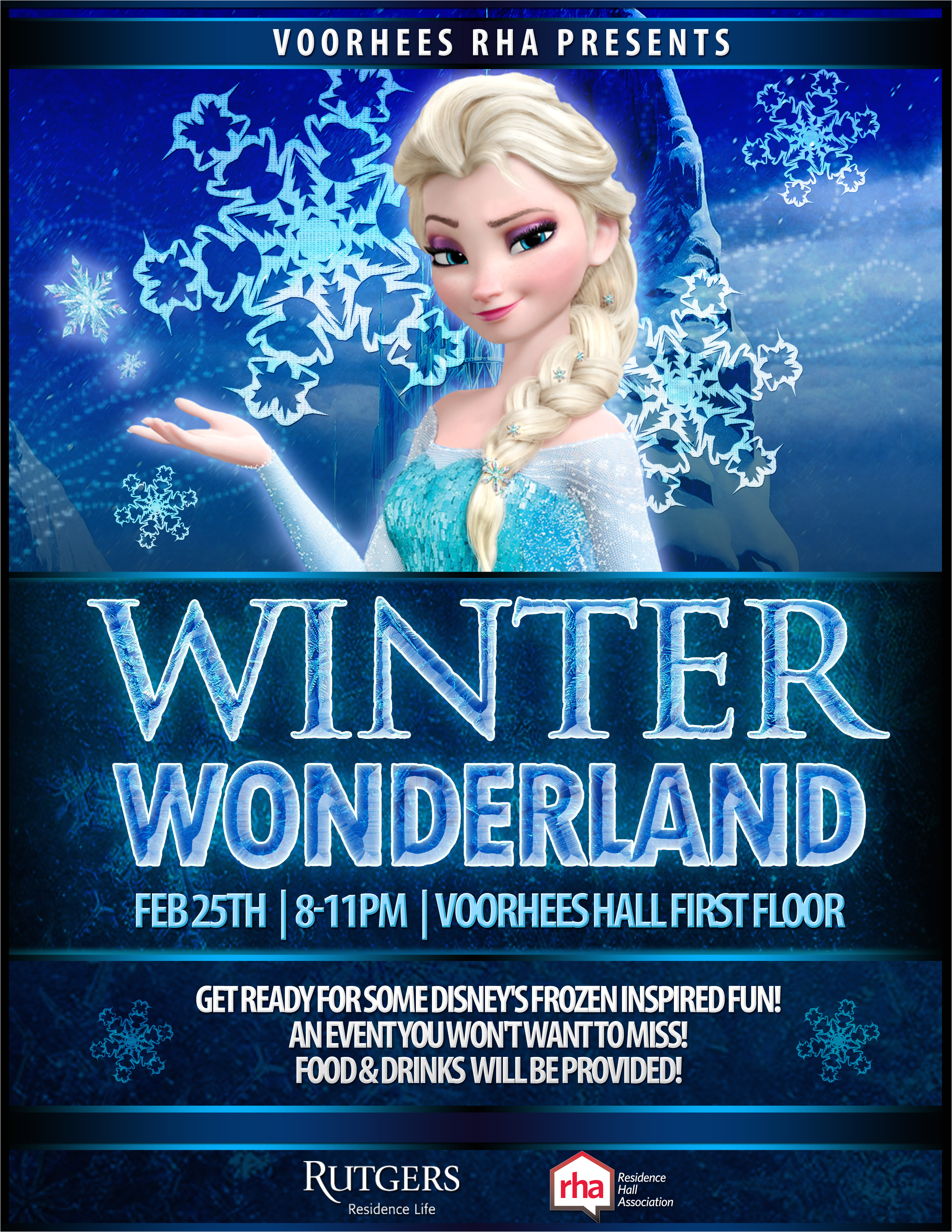 winter wonderland frozen inspired flyer