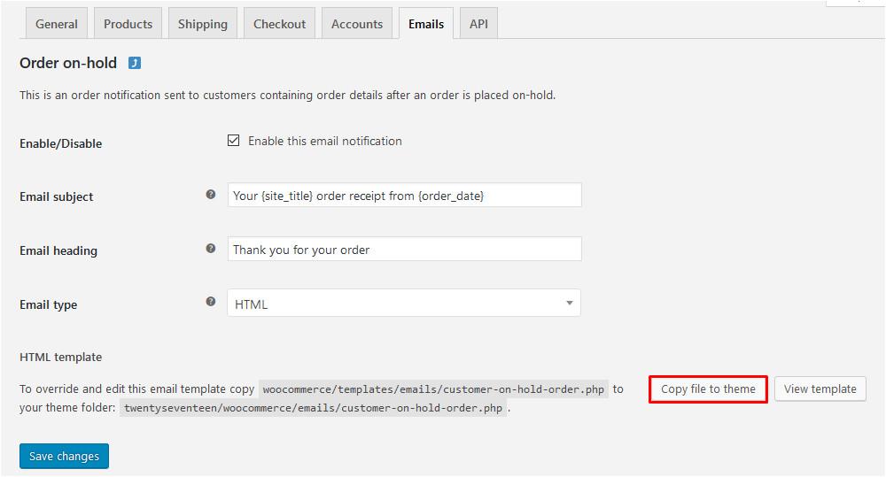 woocommerce send custom email