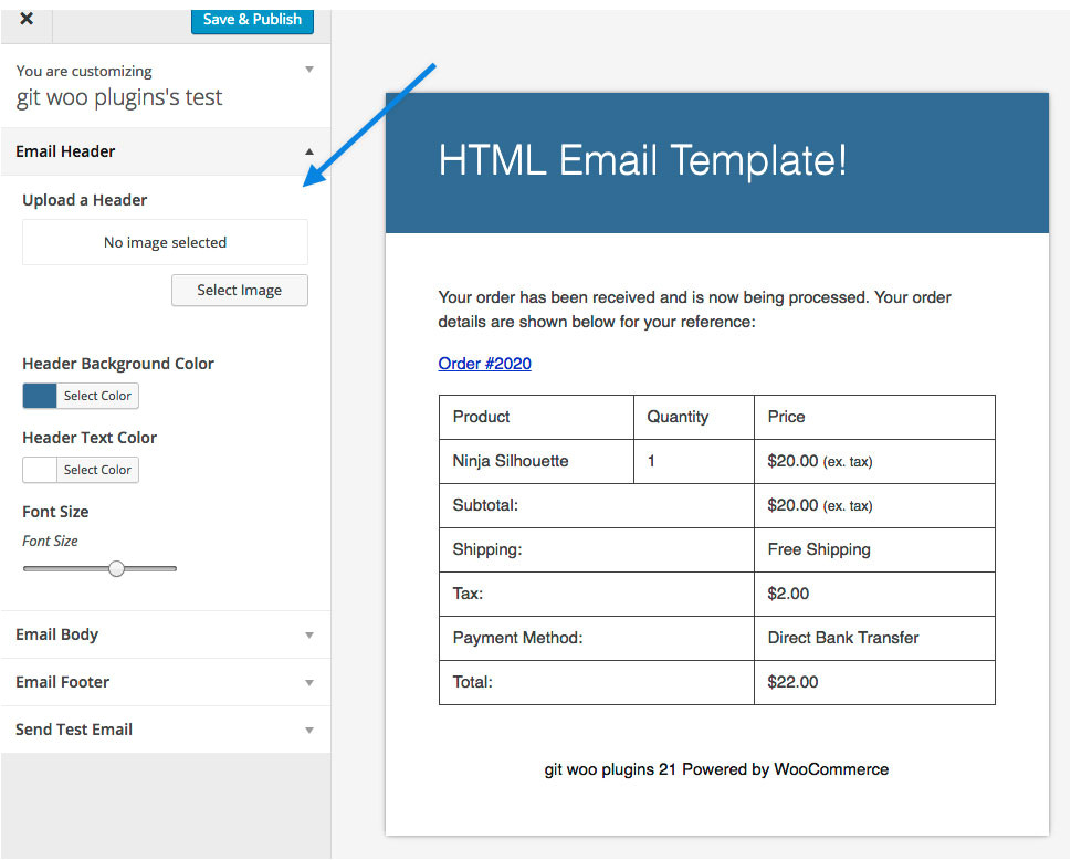 Woocommerce Email Template Preview Woocommerce Email Customizer Woocommerce