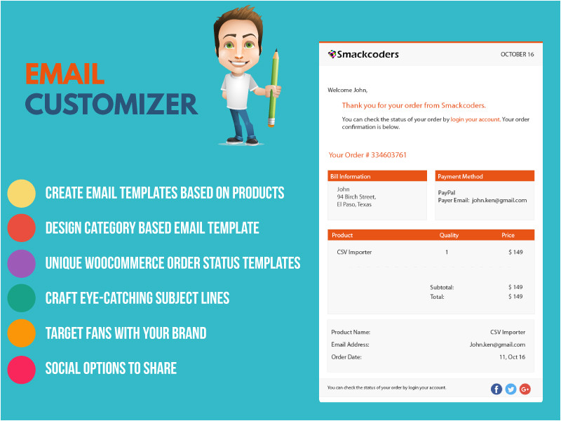 grab more customers and retain existing customers with woocommerce email templates using email customizer premium