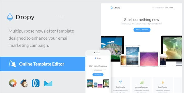 dropy email template online editor