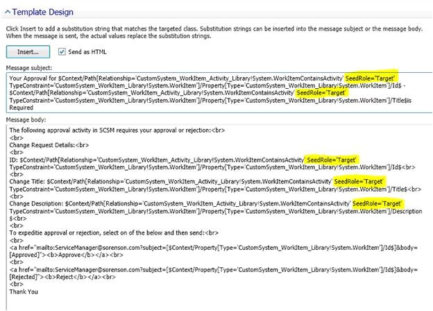 using data properties from the parent work items in activity email templates