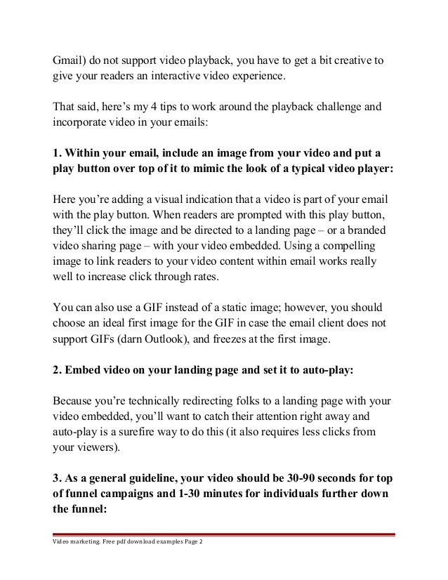 video email marketing template