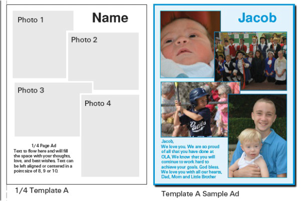 ad template choices and samples