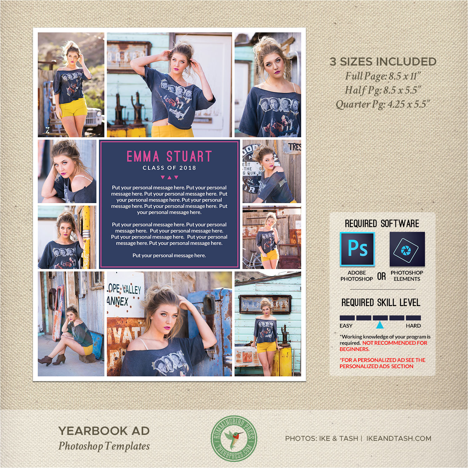 senior yearbook ad templates graduation
