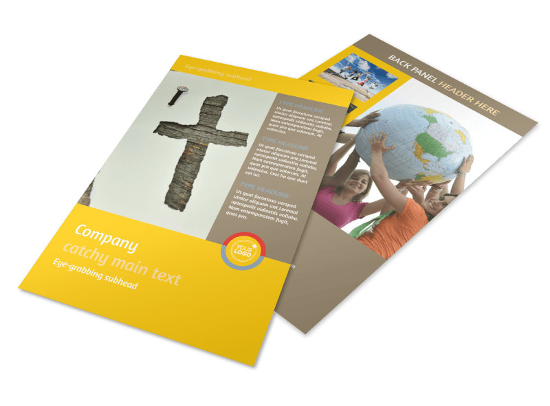 youth church group ministry flyer template