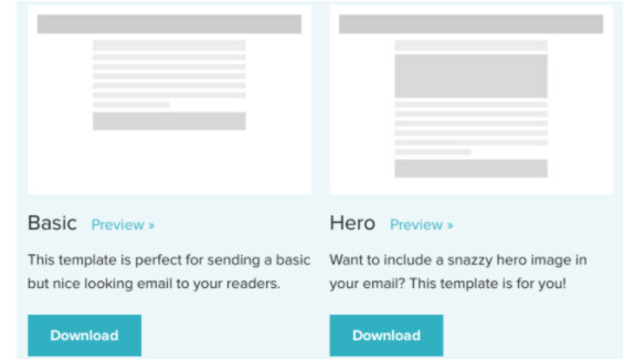email campaign templates