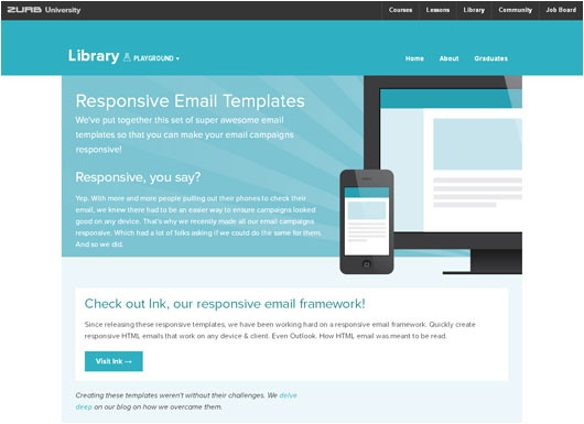 Zurb Responsive Email Templates Freebies 30 Free Responsive Email Templates for Small