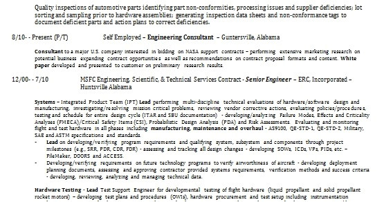 aerospace engineer resume format in