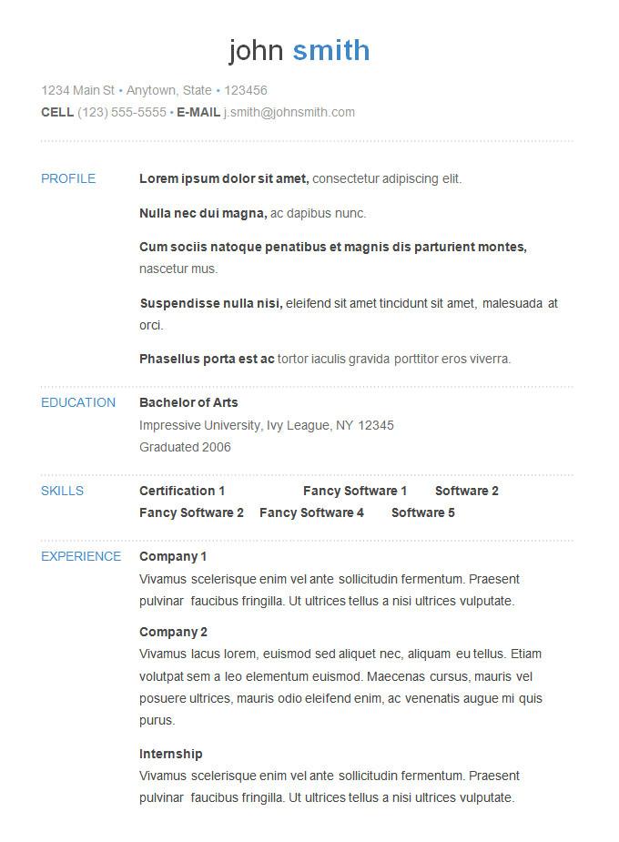 An Example Of A Basic Resume 70 Basic Resume Templates Pdf Doc Psd Free